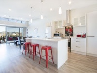 Penthouse Kitchen Island & Living